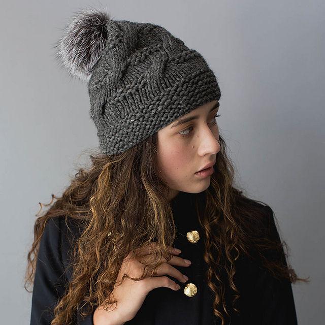 шапка из толстой пряжи Morgan вяжиру