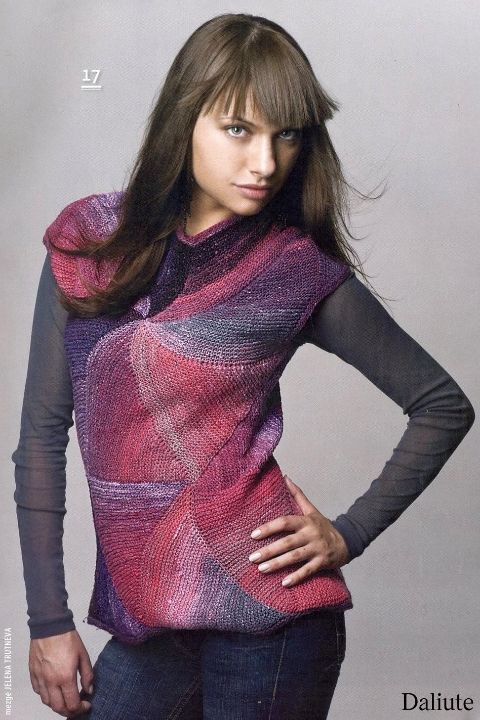 вязание спицами жилетки с карманами для женщин схемы