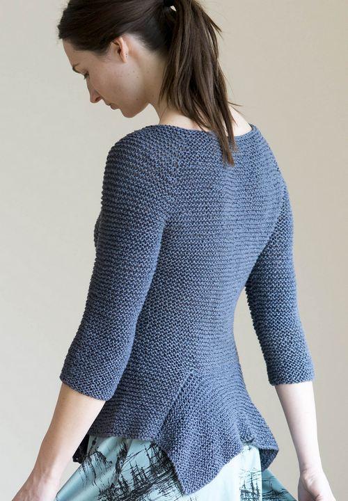 вязаный спицами пуловер с баской Bragita вяжиру