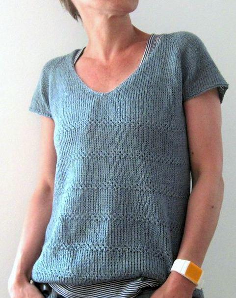 вязание спицами для женщин модного топа Edie вяжиру