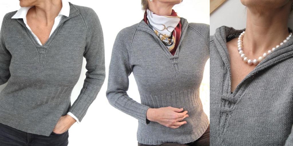 Вязание воротников для свитеров 372