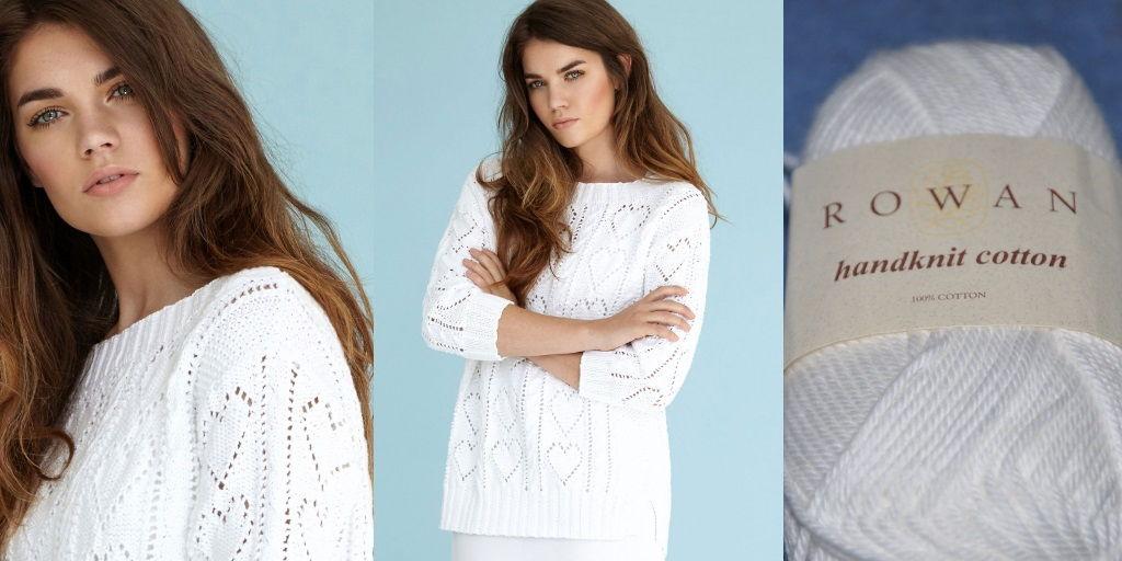 Пуловер сердечками спицами схема