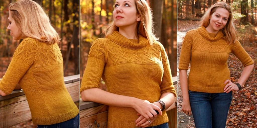 Вязание спицами пуловер с воротником 114