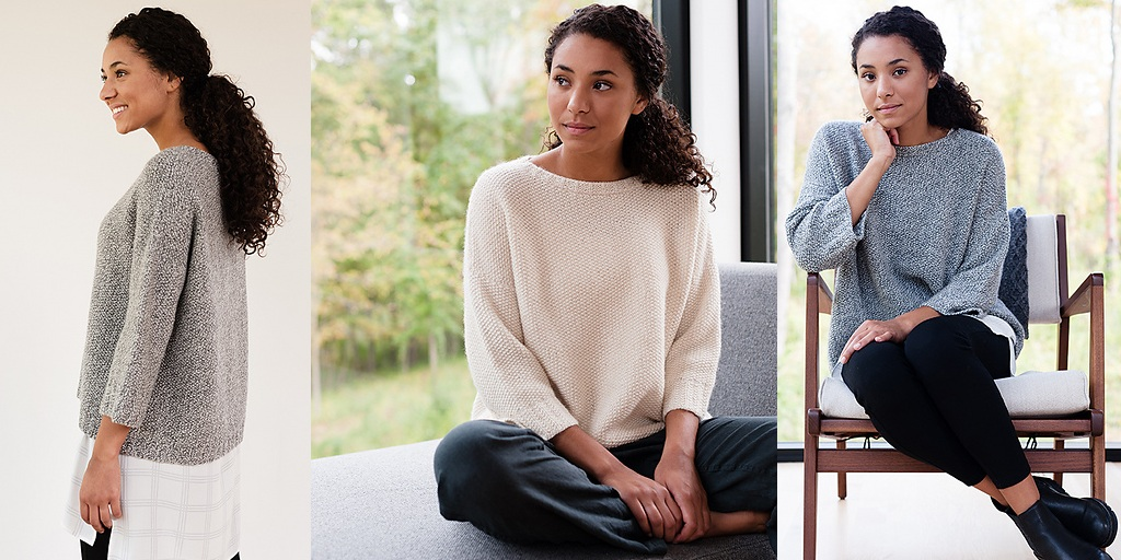 белый пуловер оверсайз спицами жемчужным узором обсуждение на