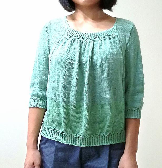 708784a551a Синяя блуза с длинным рукавом Красивая блуза с рукавом три четверти ...
