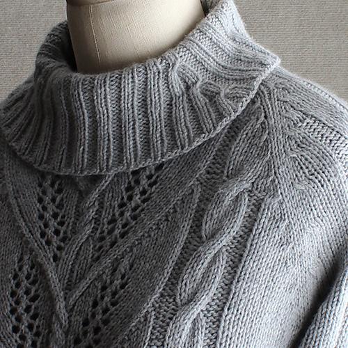 вязание воротника гольф спицами для свитера