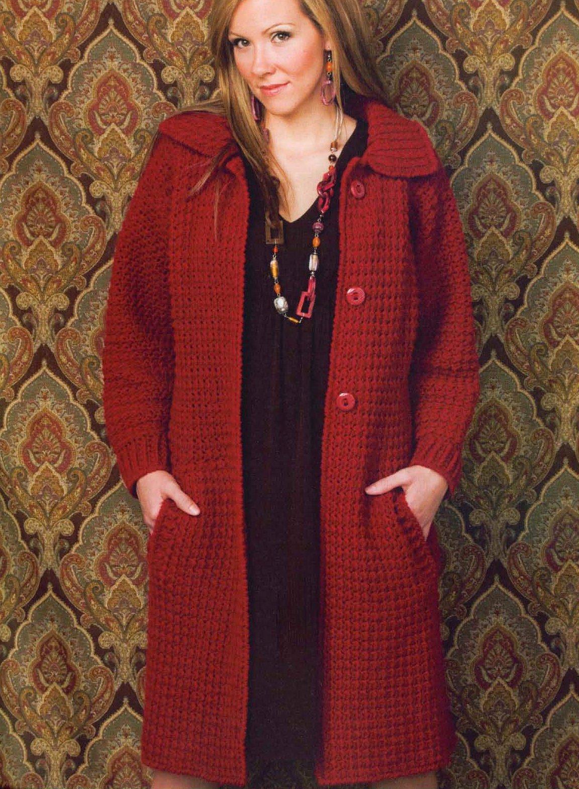 Вязание на спицах пальто больших размеров