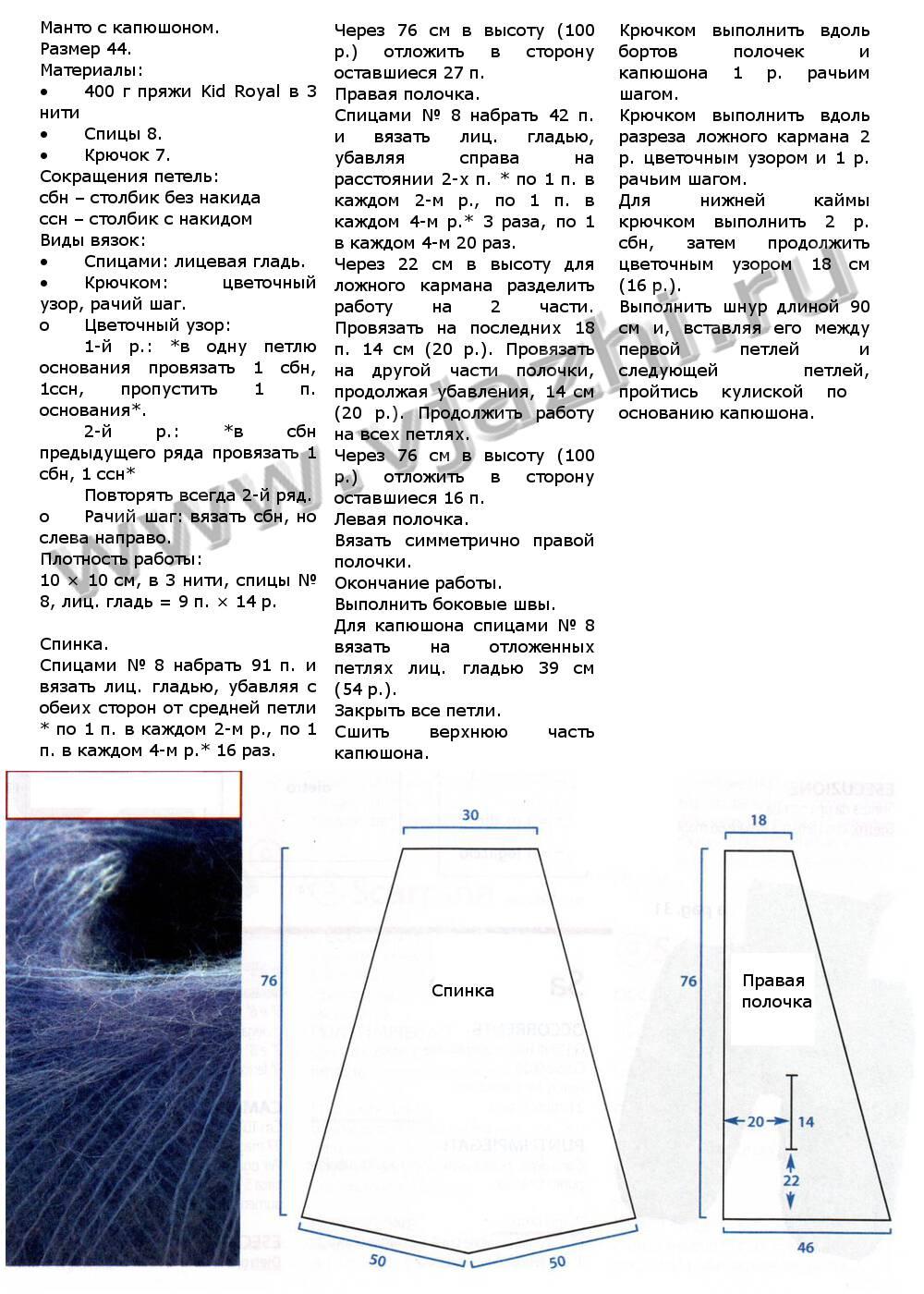 Шуба вязаная крючком схема и описание