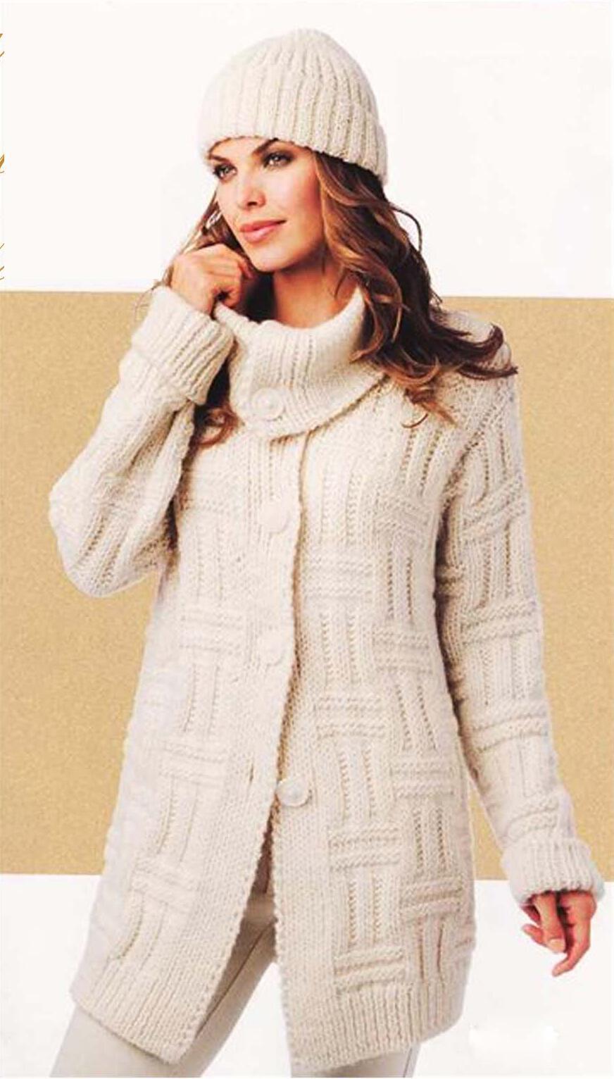 Пальто » Вязание спицами и крючком 91