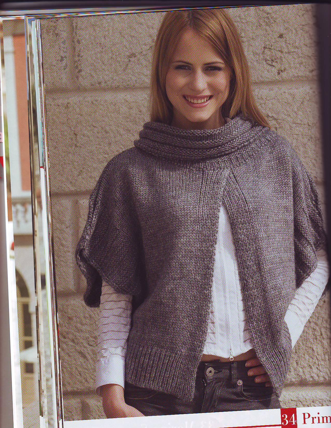 Вязаный спицами полосатый берет для девочки с описанием из журнала Phildar 22