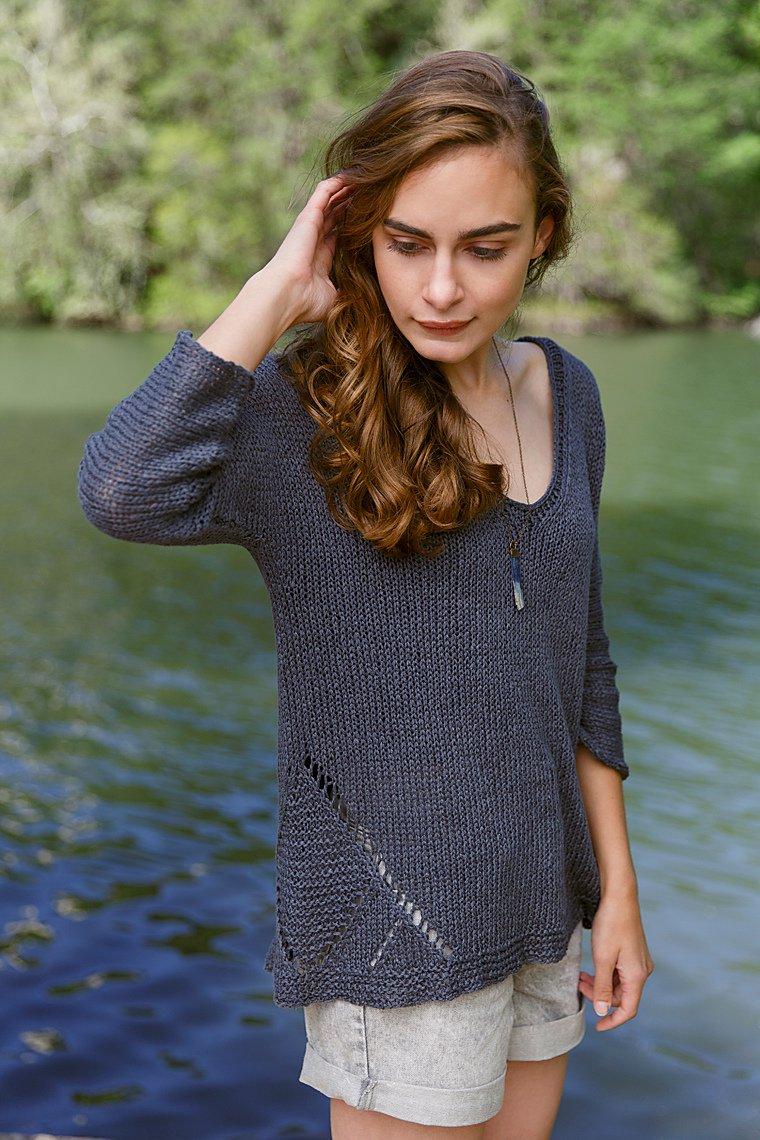 джемпер женский вязаный спицами схемы расклешенный япония