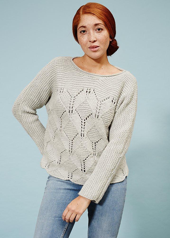 Пуловер с цельновязанными рукавами Rhombille