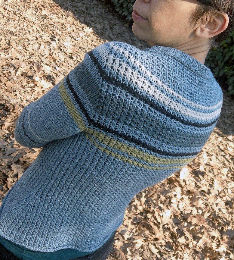 Вязание с вшивным рукавом 171