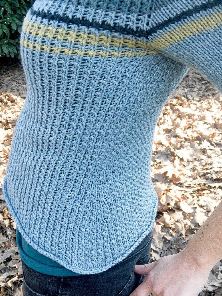 Вязание с вшивным рукавом 183