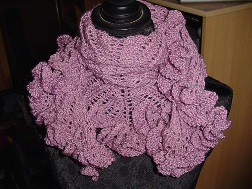 Вязание мини - шали спицами