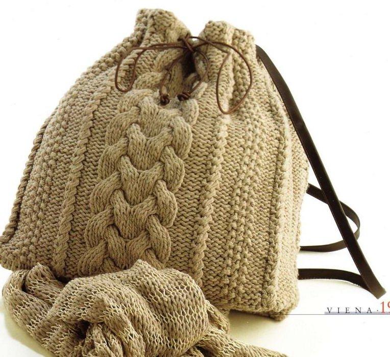 Вязание сумки VIENA.