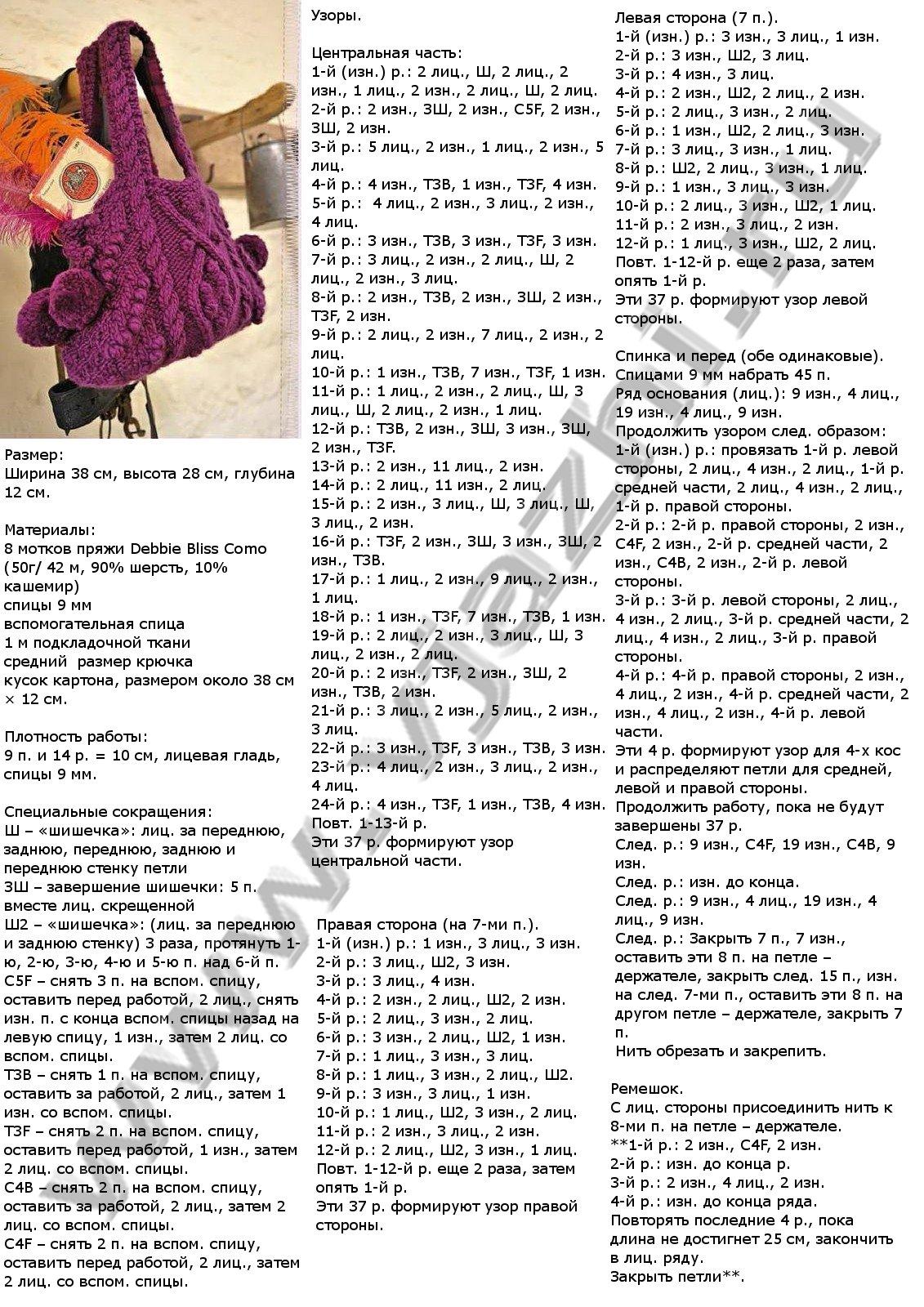 Вязание крючком сумочки женские схемы