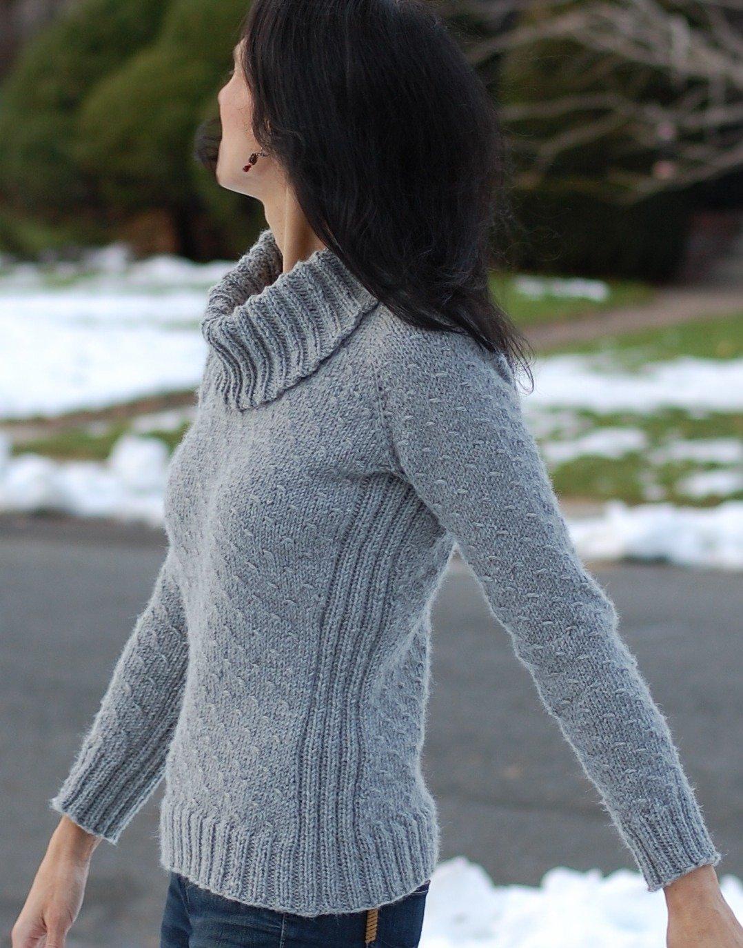 свитер балахон спицами со схемами