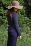 Вязание жакета Harriet с рельефной баской