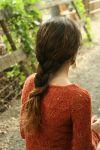 Вязание спицами пуловера Autumns End