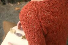 Вязание женщинам пуловера Autumns End