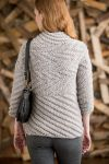 Вязание для женщин пуловера Spiral