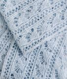 Вязание шарфа спицами ажурным узором Fan lace