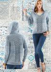 Вязание пуловера спицами, модель 24, Vogue 2014