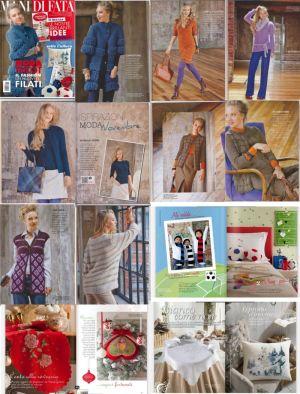 Журнал по вязанию Mani di Fata представляет модели женской одежды и аксессуаров, модели для вышивки от итальянских...