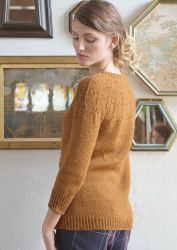 Пуловер без швов сверху вниз