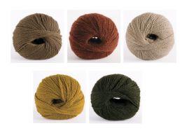 Цветовая схема из 5 цветов для узора лисьи лапки