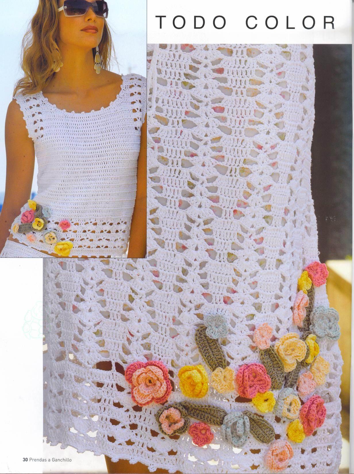 Вязание крючком костюм лето