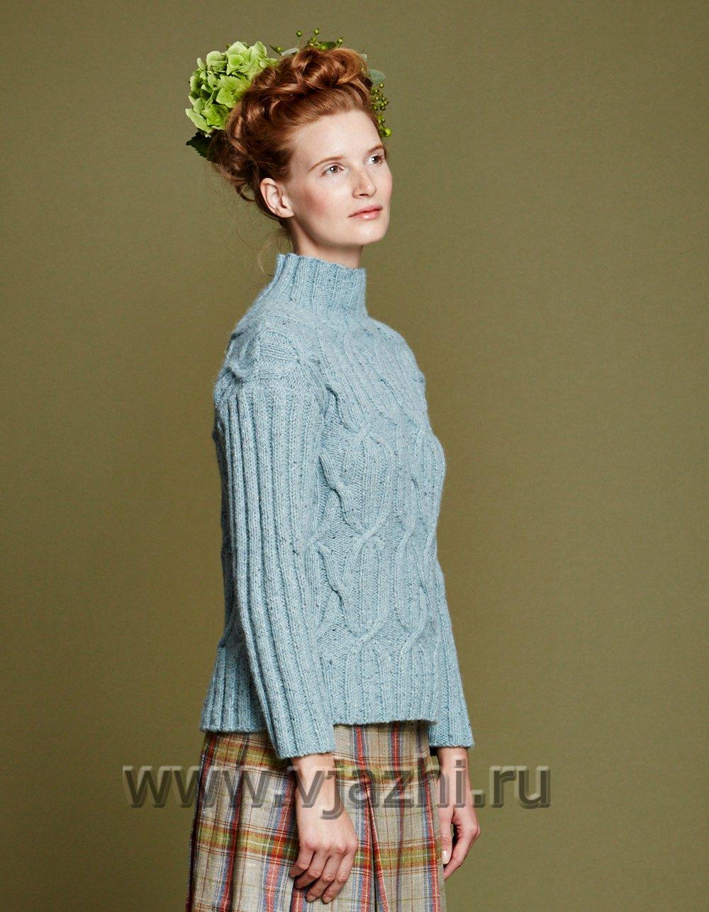 платье свитер на осень схема и описание