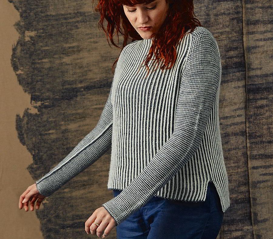 свитер английской резинкой Luna вяжиру