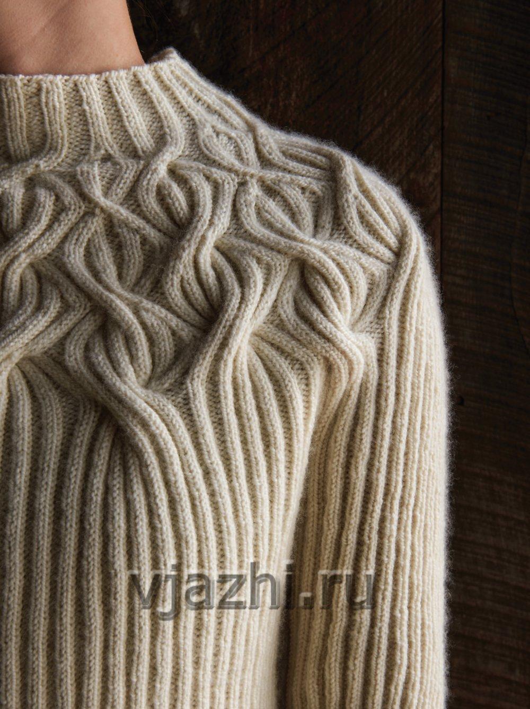 Nice Knitting Patterns : ?????? ? ??????? ???????? Botanical Yoke - ????.??