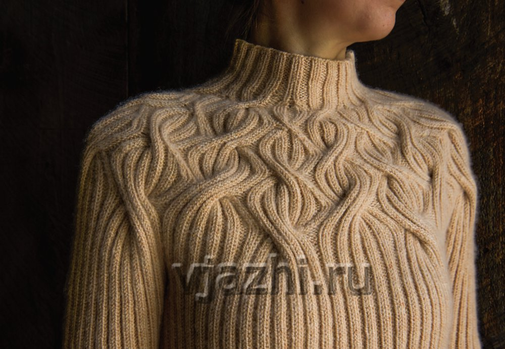 свитер с круглой кокеткой Botanical Yoke вяжиру