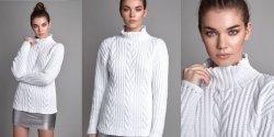 Женский свитер с косами спицами коллекция 2018