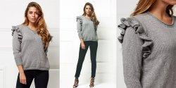 Пуловер Ariana с рюшами на плечах спицами