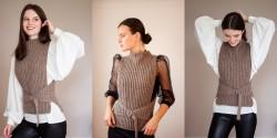Как связать женскую жилетку спицами