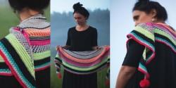 Цветная шаль фото