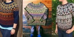 Пуловер с жаккардовым узором, связанный спицами