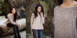 Пуловер с горловиной лодочкой