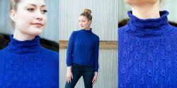Пуловер с узором веточки