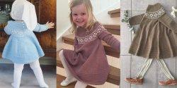 Платье для девочек спицами описание и схемы