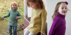 Детский свитер спицами для девочки