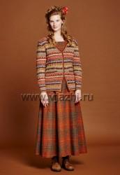 Вязание спицами для женщин модного жаккардового кардиган с описанием