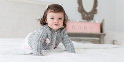 Кофточка реглан для малышки от рождения до 2 лет, связанная спицами