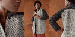 Пальто реглан спицами для женщин