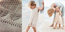 Вязаное платье для девочки спицами, схемы и описание