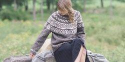 Пуловер с круглой кокеткой спицами схемы и описание